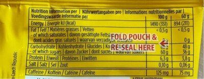 Powerbar Powergel Shots (60GR) - Cola - Informazioni nutrizionali - fr