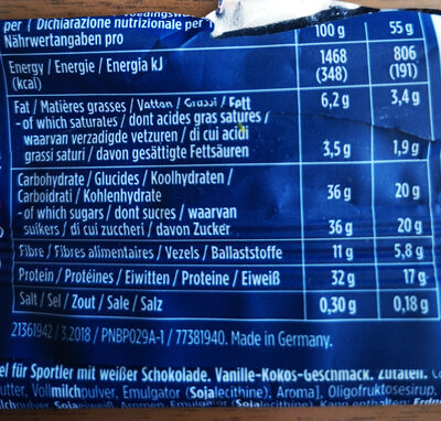 30% Protein Plus - Nutrition facts