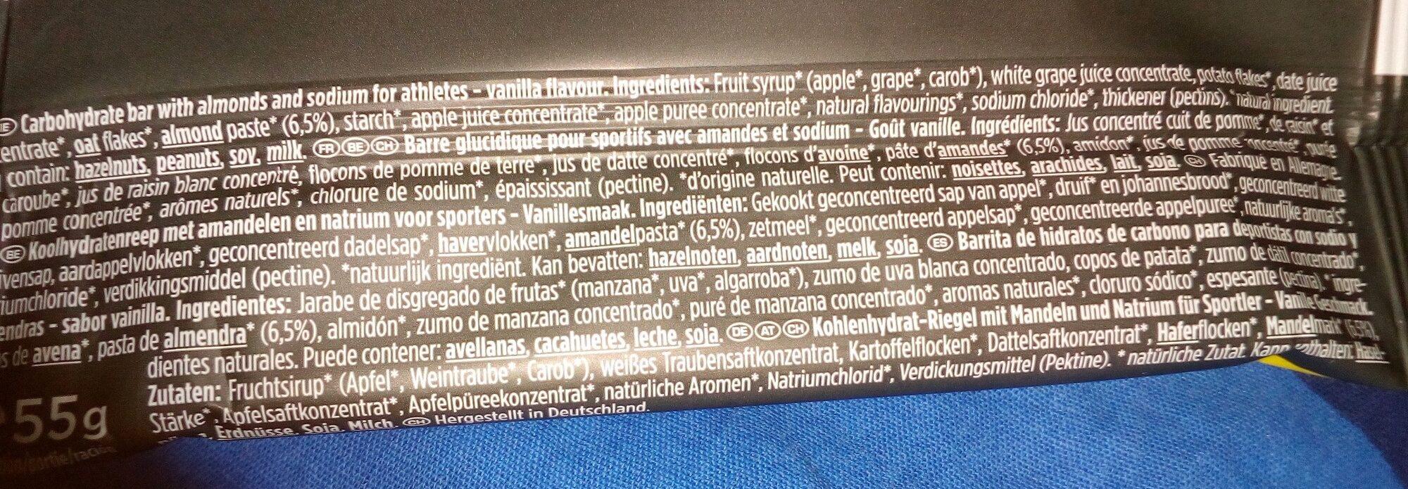 energize almond vanilla - Ingredients - fr