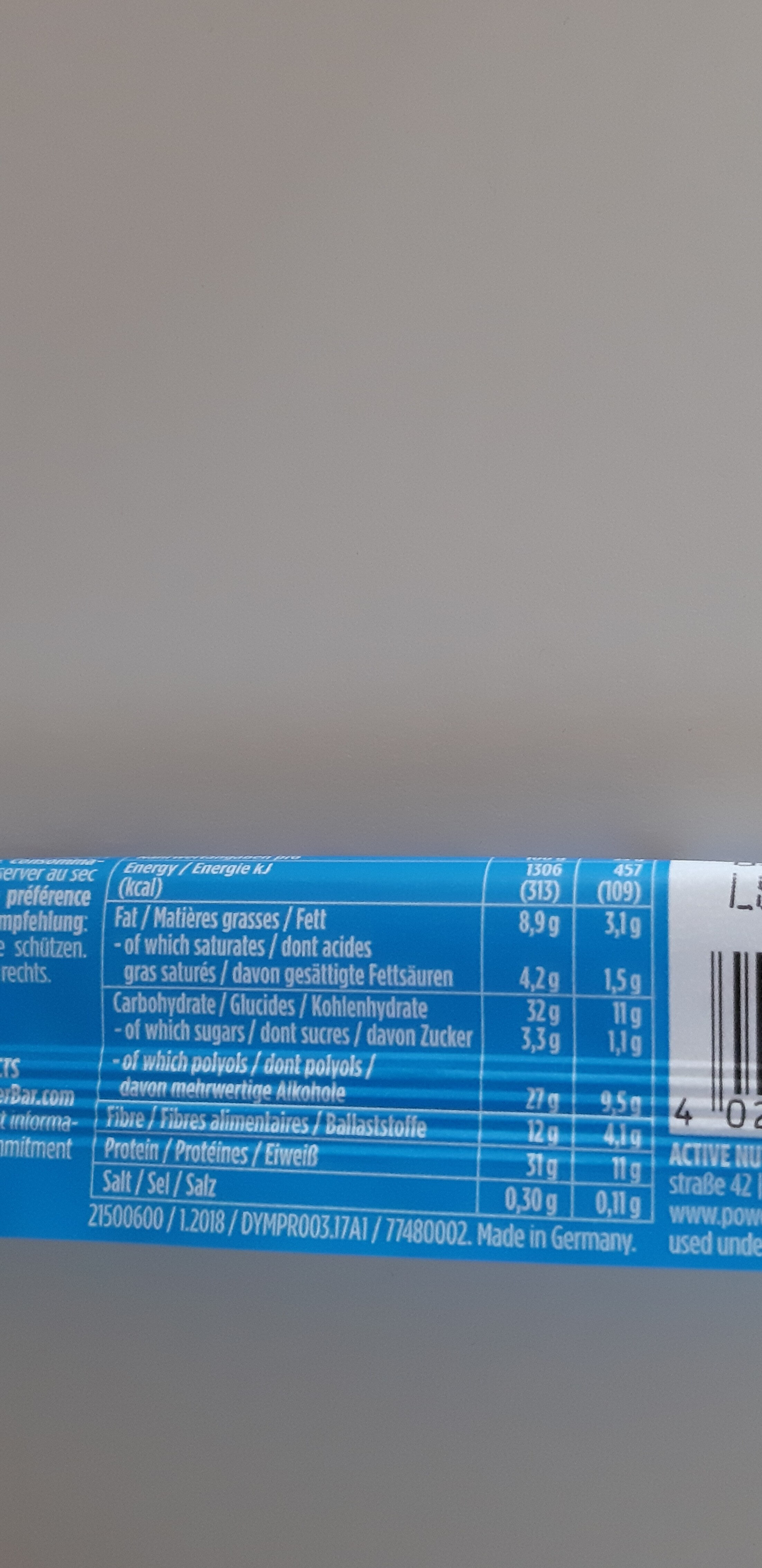 Protein Plus - Nutrition facts - de