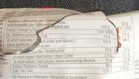 Chocolate peanut butter and caramel - Informations nutritionnelles - de