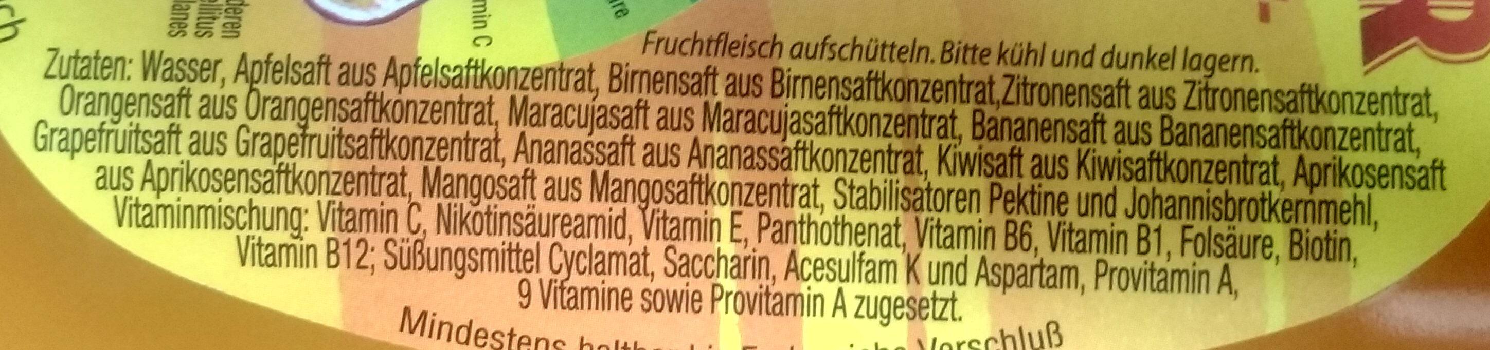 Loscher Mehrfruchtsaftgetränk - Ingrediënten - de