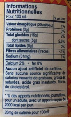Club-Mate - Informations nutritionnelles - fr