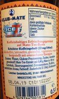 Club Mate, Ice Tea Kraftstoff - Ingredients