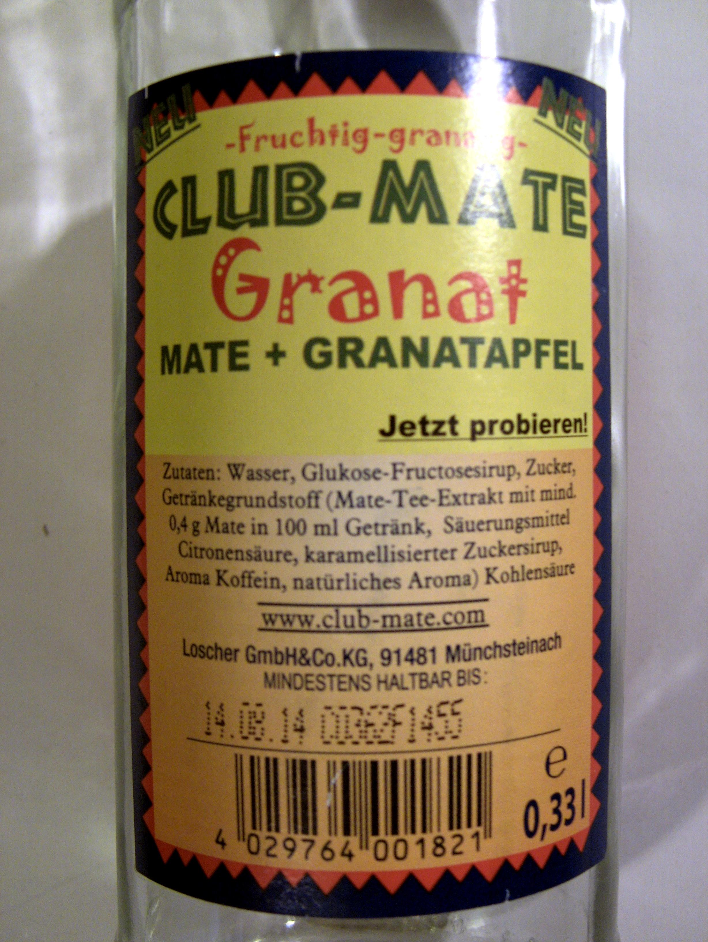 Club-Mate - Ingredients