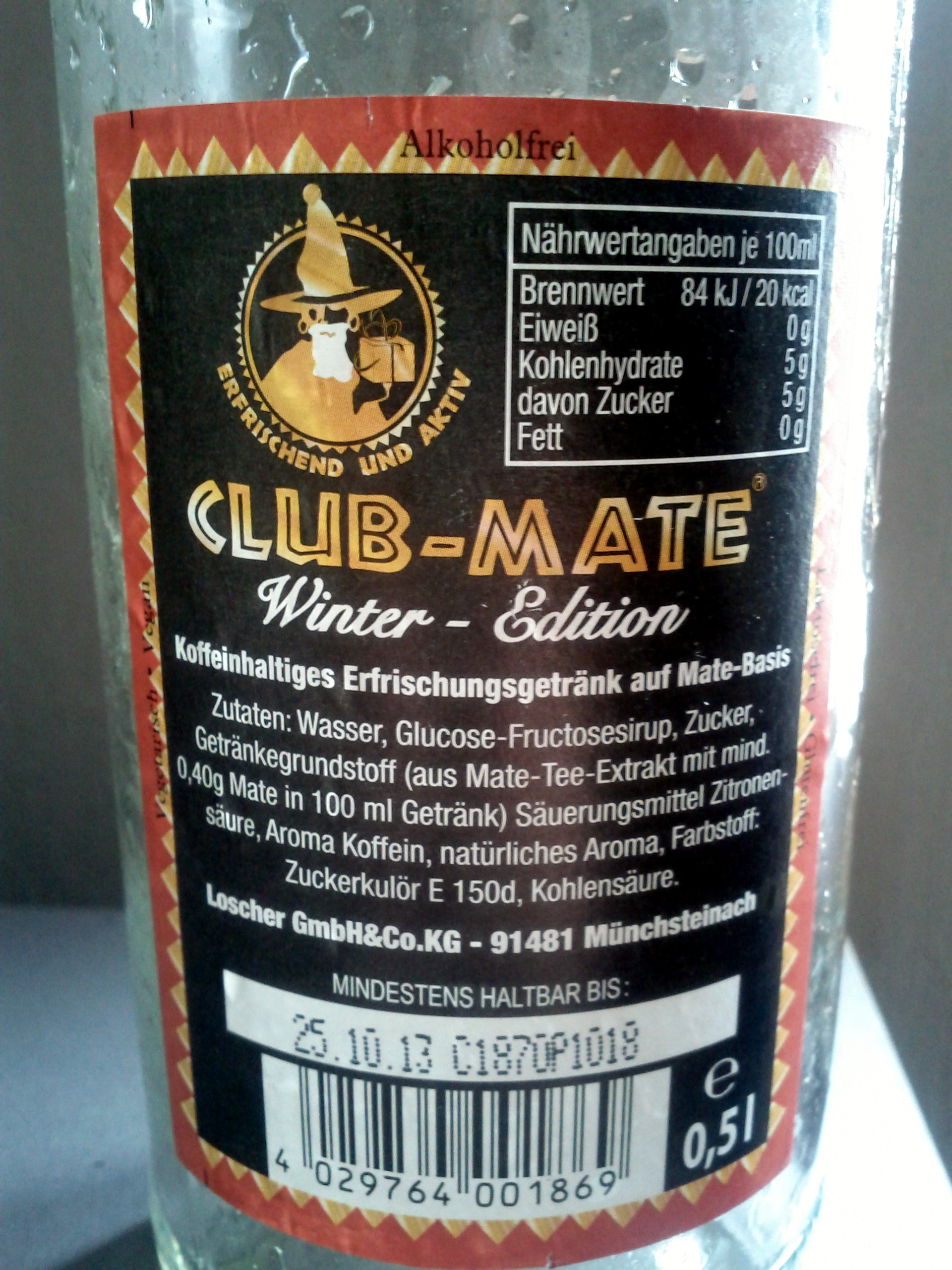 Club-Mate Winter-Edition - Voedigswaarden
