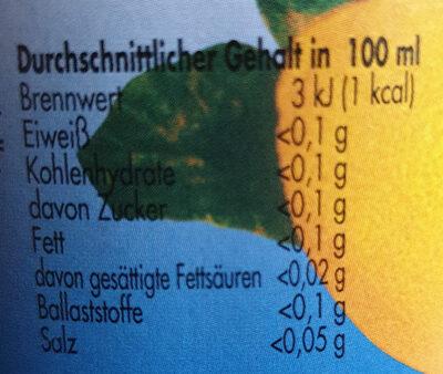 kalorienarme Zitronen-Limonade - Informations nutritionnelles - de