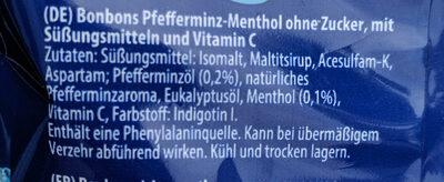 Vivil Extra Stark Halsbonbons Ohne Zucker - Ingrediënten