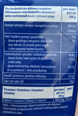 Vivil Extra Stark Halsbonbons Ohne Zucker - Voedingswaarden