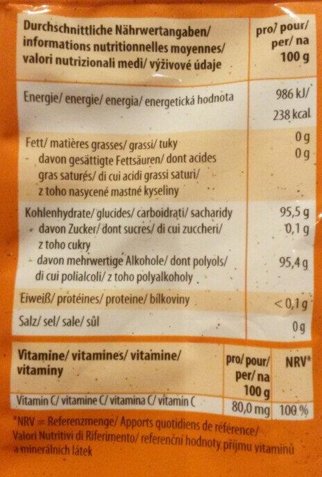 Erfrischungsbonbons wild Orange - Voedingswaarden