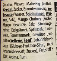 Worcester Sauce - Ingredients