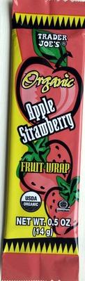 Organic Apple Strawberry Fruit Wrap - Product