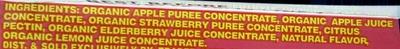 Organic Apple Strawberry Fruit Wrap - Ingredients