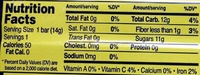 Organic Apple Strawberry Fruit Wrap - Nutrition facts