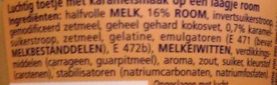 Wolkentoetje Karamel - Ingrediënten - nl