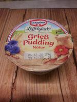 Grieß Pudding Natur - Product - de