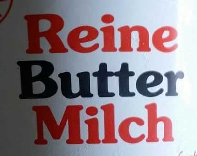 Reine Butter Milch - Zutaten - de