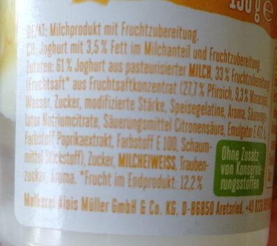 Froop Pfirsich Maracuja - Ingrediënten