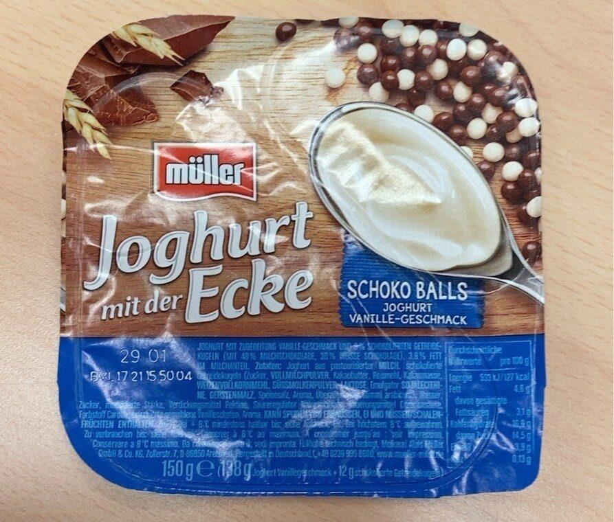 Joghurt mit der Ecke Schoko Balls - Produkt - de