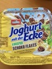 Joghurt mit der Ecke Knusper Schoko Flakes & Joghurt Bananen Geschmack - Product