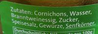 Cornichons, Süß-sauer - Ingrédients - fr