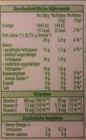 Active Halbfett Margarine - Voedingswaarden - de