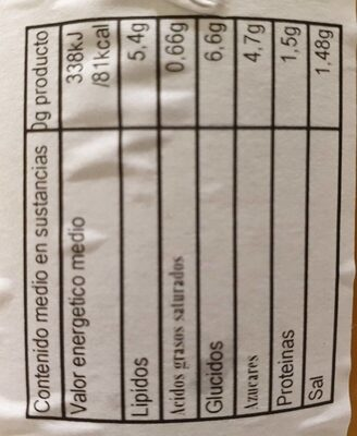 Pure de calabacin casa - Nutrition facts - es