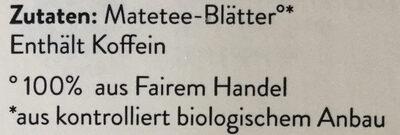 Erva-Mate - Ingredients