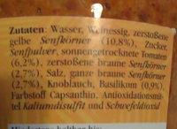 Orginal südafrikanischer Senf - Ingrediënten