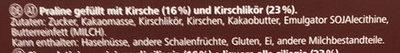 Herz Kirschen Zartbitter-Pralinen - Ingrediënten