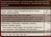 Sarotti HERZ Kirschen ZARTBITTER-PRALINEN - Valori nutrizionali - de