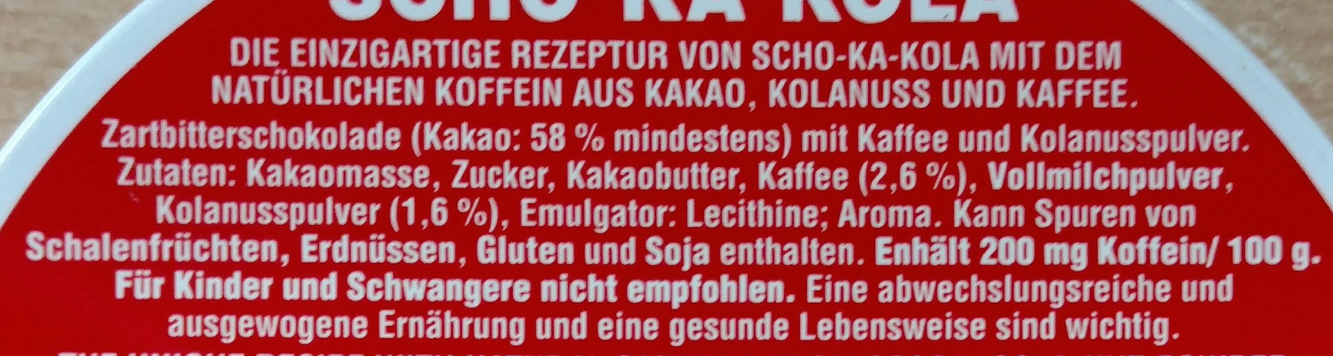 Scho-Ka-Kola - Ingredienti - de