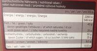 Sarotti No. 1 Ecuador - Informations nutritionnelles - de