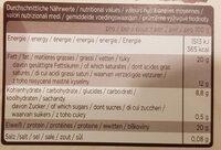 Sarotti Kakao - Valori nutrizionali - fr