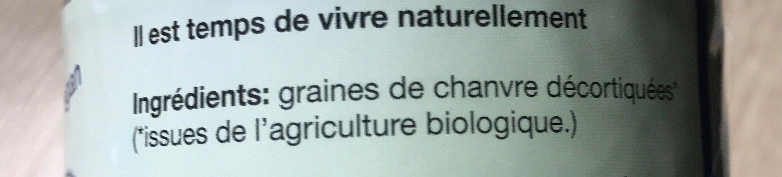 Graines De Chanvre Décortiquées Bio 150G La Maison Du Chanvre - Ingrediënten
