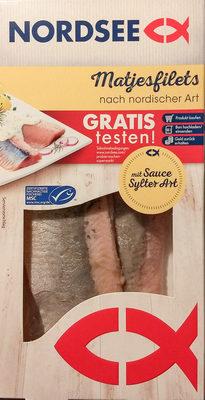 Matjesfilets nach nordischer Art mit Sauce Sylter Art - Product - de
