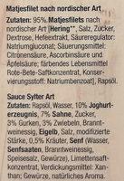 Matjesfilets nach nordischer Art mit Sauce Sylter Art - Ingredients - de