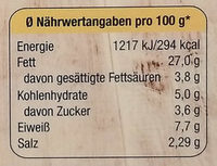 Matjesfilets nach nordischer Art mit Sauce Sylter Art - Nutrition facts - de