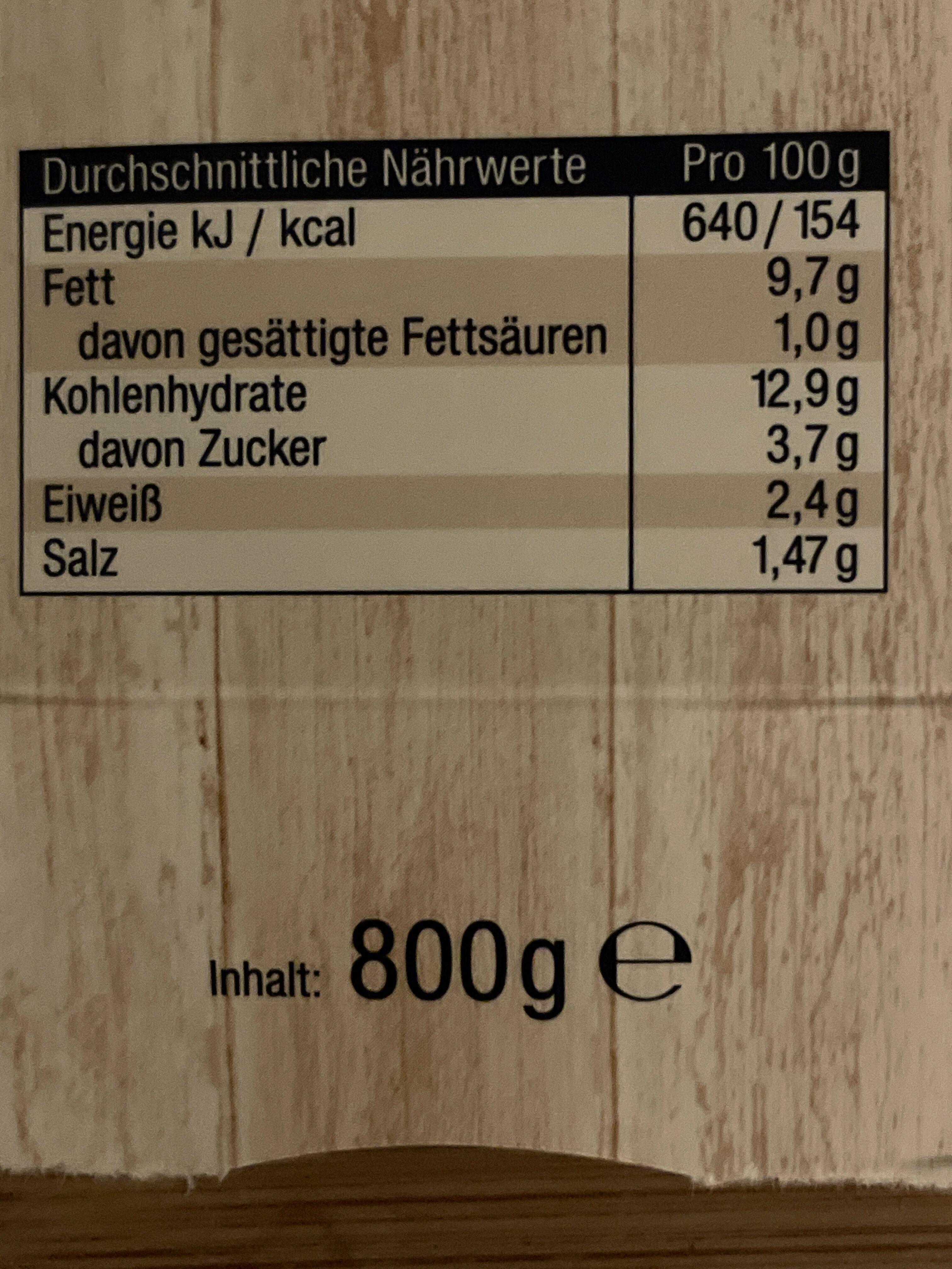 Feiner Pellkartoffel Salat - Informations nutritionnelles - de