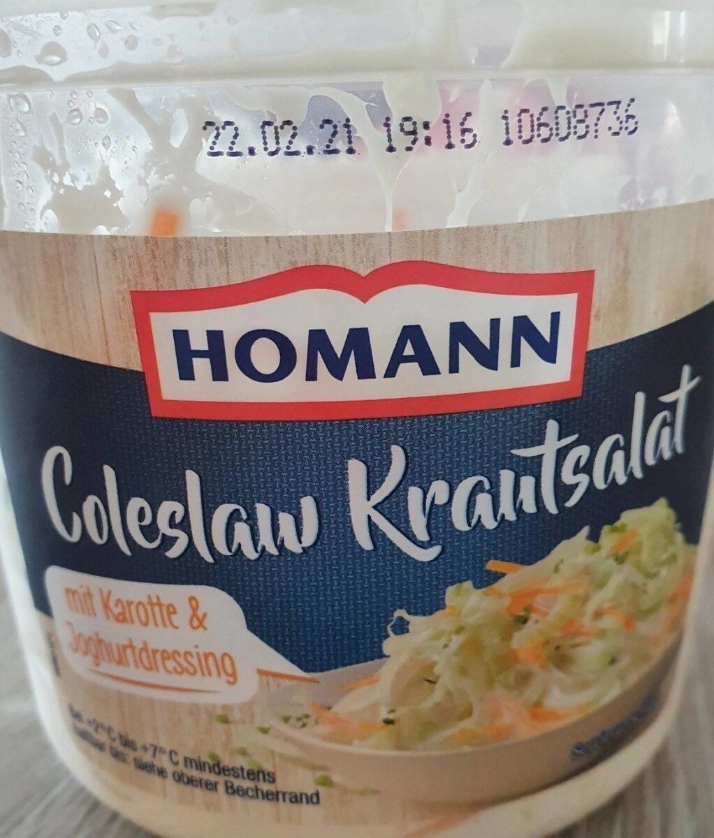 Homann Coleslaw Krautsalat - Prodotto - de