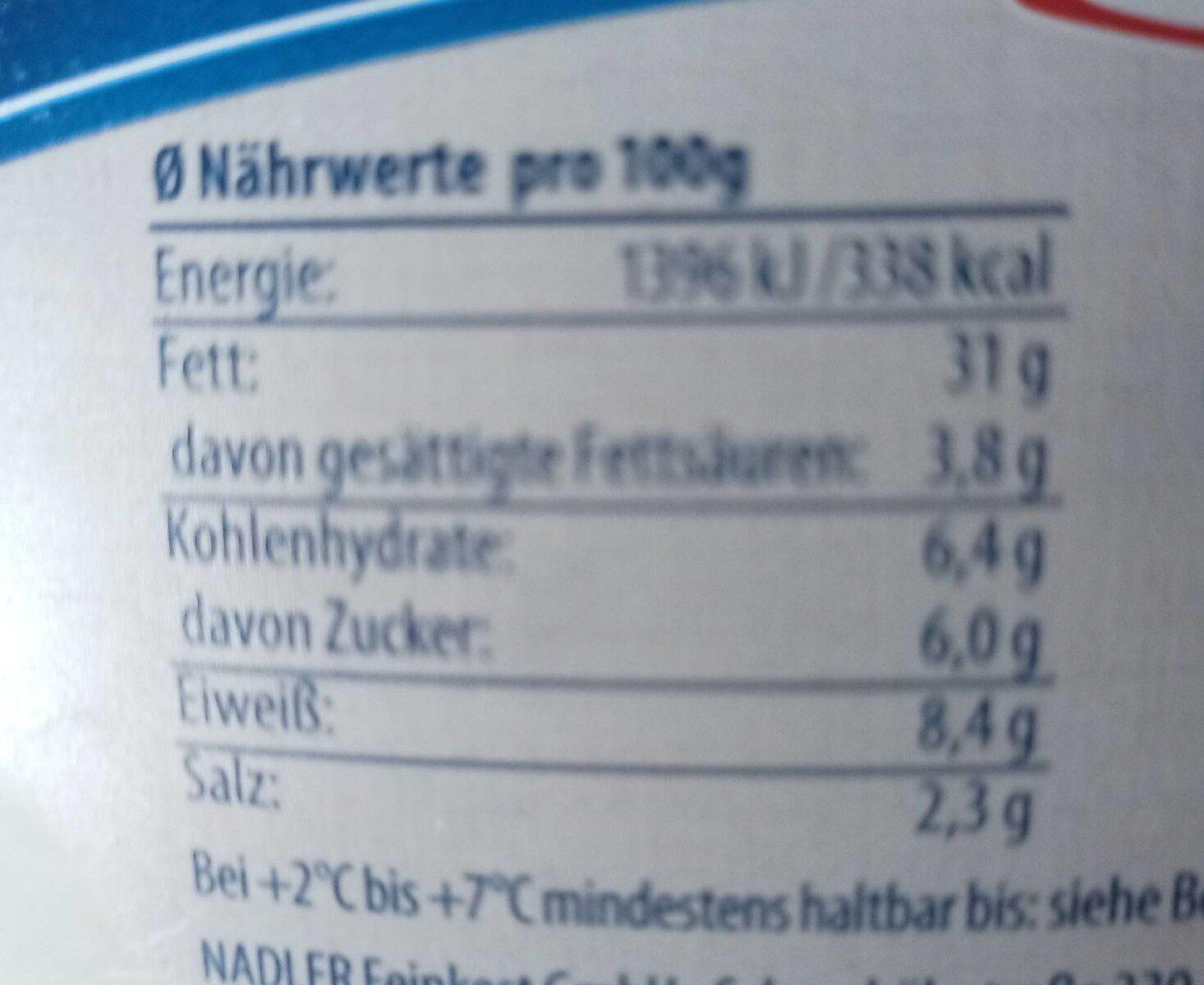 Fischglück, Hering & Lachs - Nährwertangaben - de