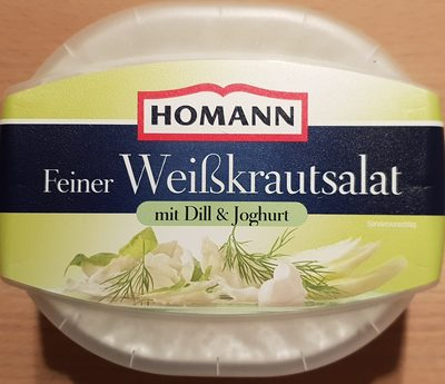 Feiner Weißkrautsalat mit Dill & Joghurt - 1