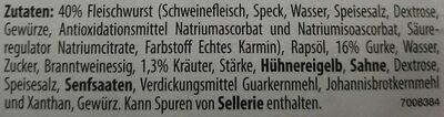 Metzger Kräuter Fleischsalat - Ingrediënten - de