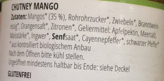 Chutney Mango - Ingrediënten