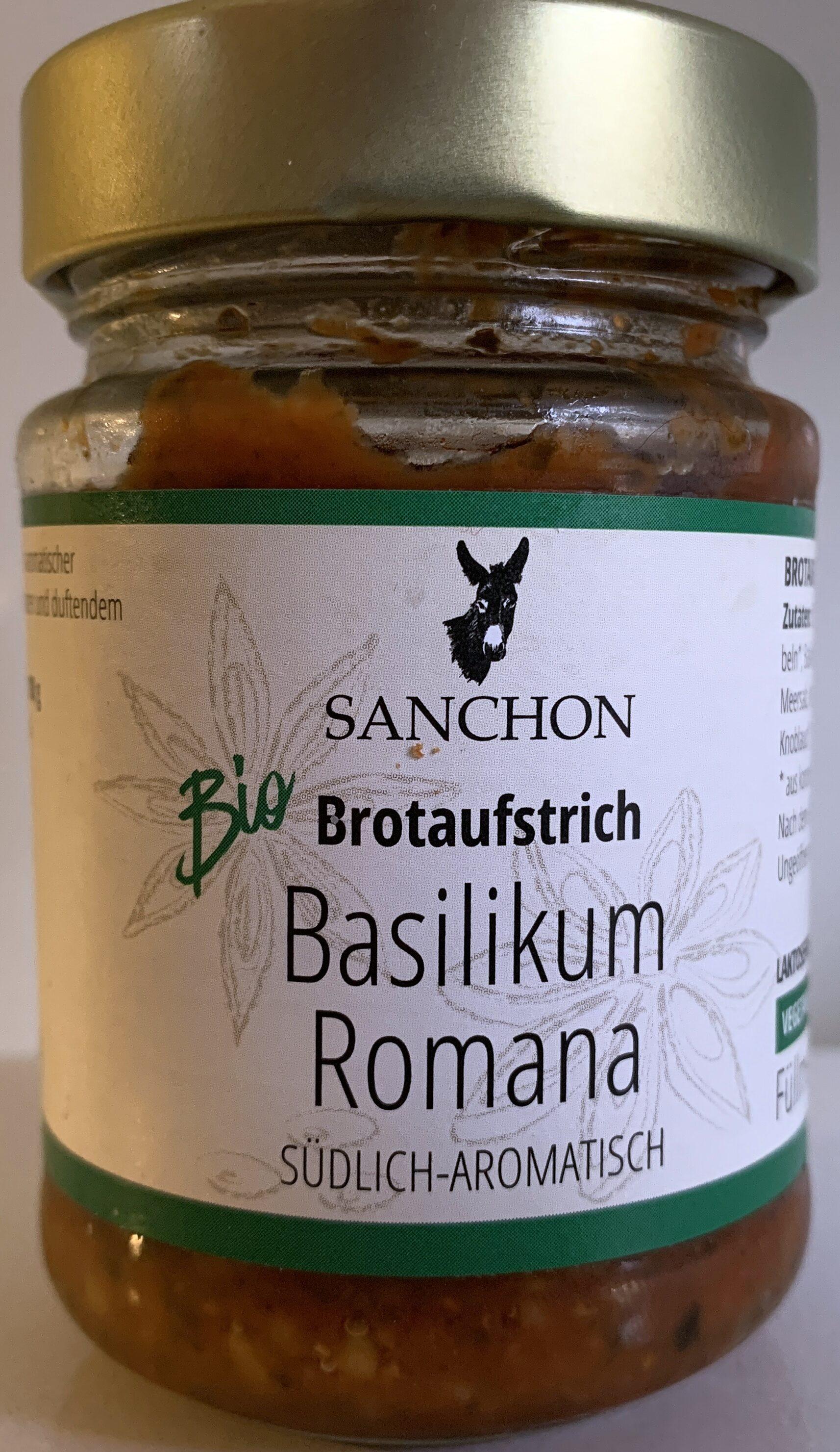 Brotaufstrich Basilikum Romana Südlich-Aromatisch - Prodotto