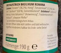 Brotaufstrich Basilikum Romana Südlich-Aromatisch - Ingredienti
