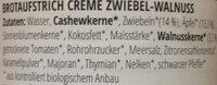 Crème Zwiebel-Walnuss - Ingredientes