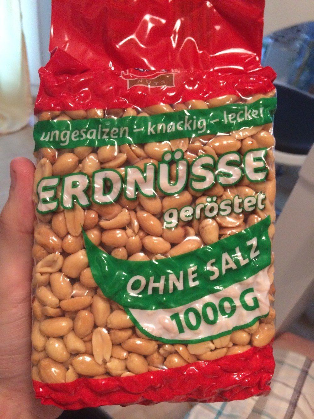 XOX Nuts Erdnüsse geröstet ohne Salz - Produkt