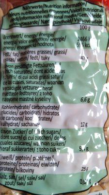 XOX Nuts Erdnüsse - Zutaten - de