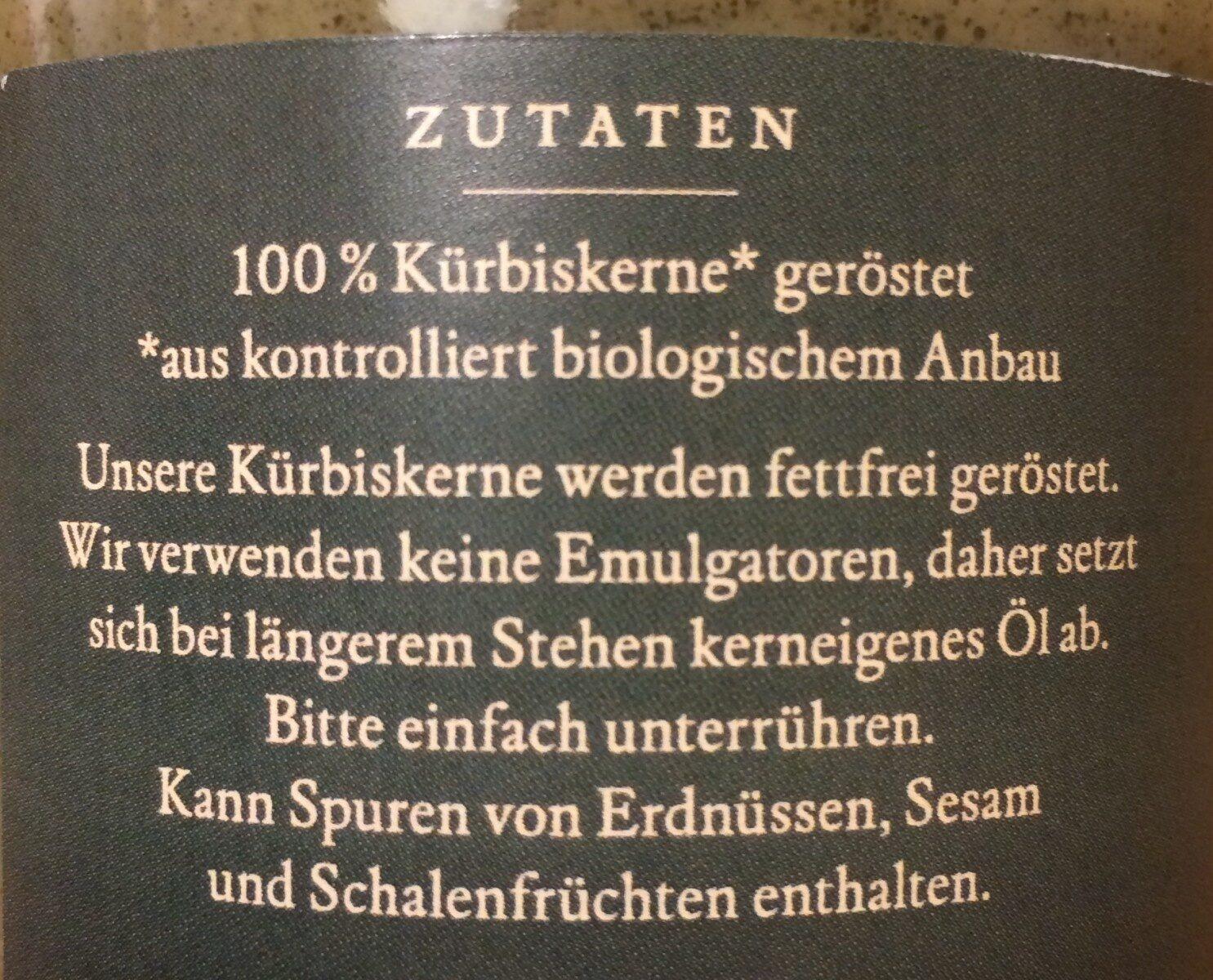 Kürbiskernmus - Ingredientes